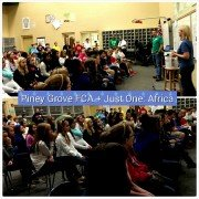 Just One Africa speaks at Piney Grove Middle School FCA