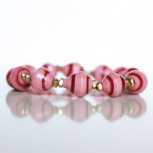 pink and red bracelet