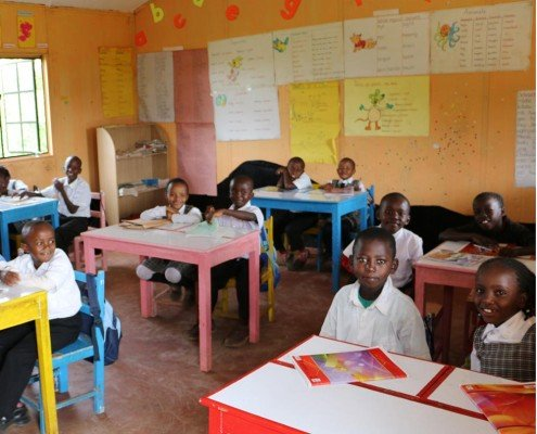 kenyan classroom of students