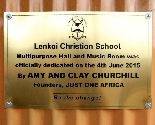 clay and amy churchill dedication of multipurpose room