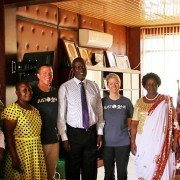 Just One Africa meeting with the Governor of Siaya County in Western Kenya.