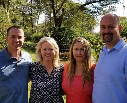 The Churchill's and Olhava's in Kenya on an Experience Trip in 2017