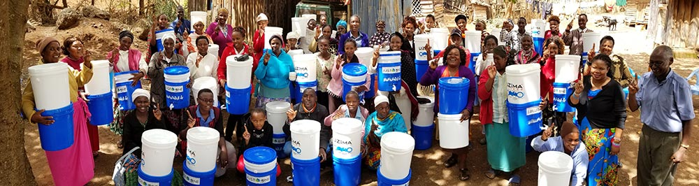 Just One Africa water filter distribution in southern Kenya. One of many in 2017.