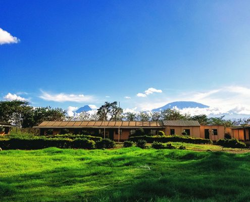 Lenkai Christian School with Mt. Kilimanjaro in the background.
