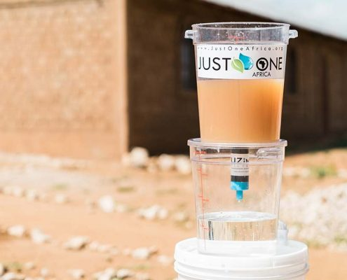 Just One Africa Water Filter in Amboseli