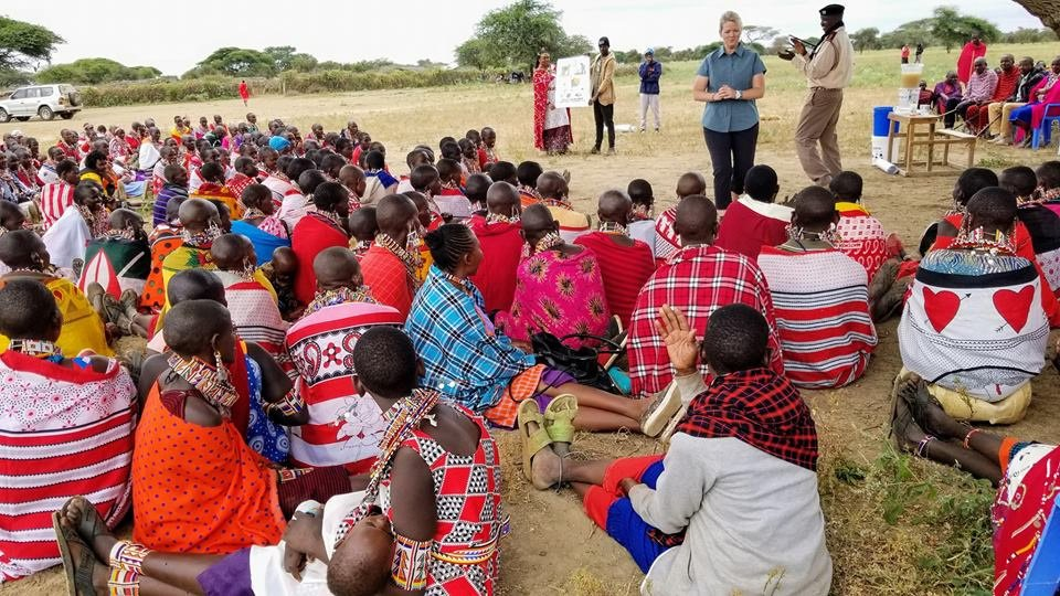 Maasai Water Filter Distribution Training with Uzima Filters
