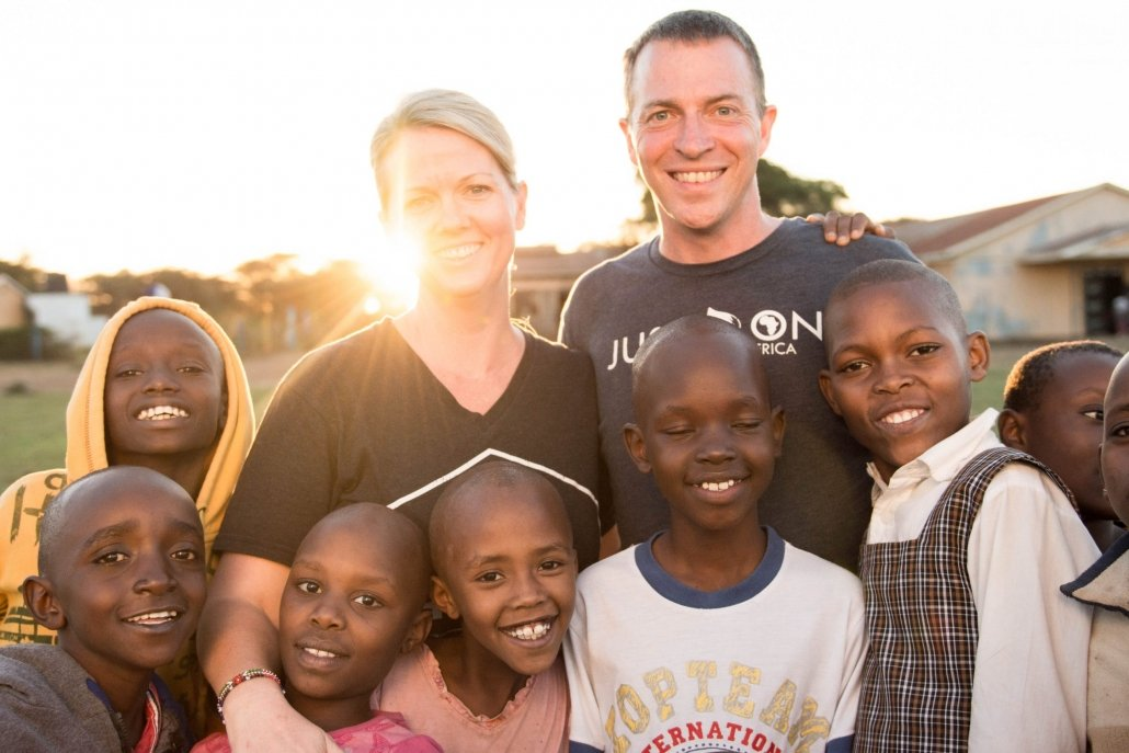 Clay and Amy Churchill in Kenya with Lenkai Christian School