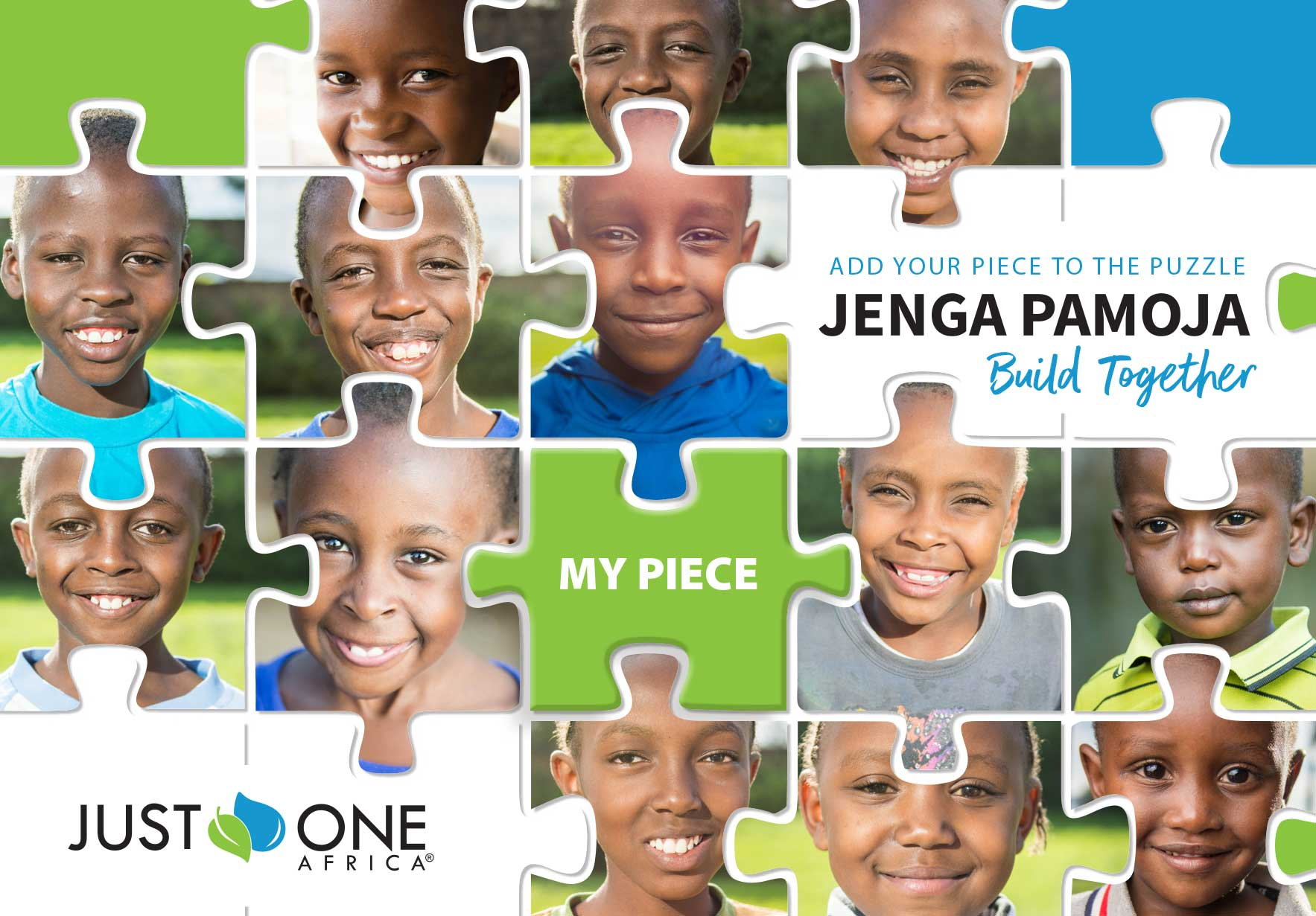 Just One Africa Puzzle Pieces