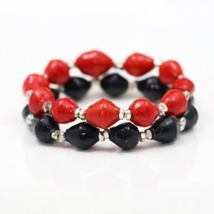 uga red black silver bracelet