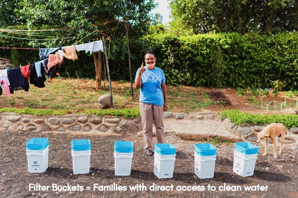 Water Filter Buckets = Families with Clean Water